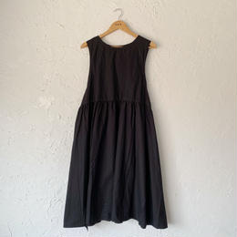 【YARMO】taberd dress (BLACK )