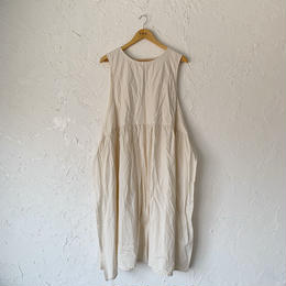【YARMO】taberd dress (NATURAL)
