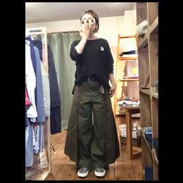 【DENIM DUNGAREE】コンパクトチノ リメイク ワイド PN/SIZE 02(160)