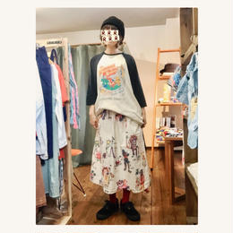 【DENIM DUNGAREE】PLEASE AND  THANK YOU STORE イージー SK/SIZE 02