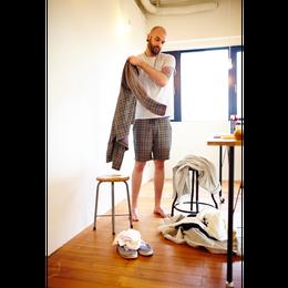 BLURHMS ブラームス Check Jersey Shorts メンズ