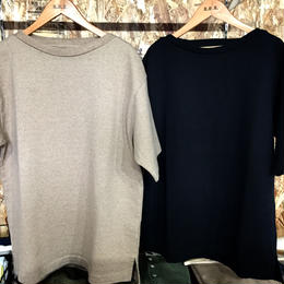 blurhms Heavy weight & Soft Loose Boat-neck Tee