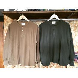 【blurhms】New Rough & Smooth Thermal Henley-Neck L/S