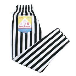 【Cookman】Chef Pants「WIDE STRIPE」(BLACK)