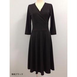 【KRB08】七分袖ワンピース(薄地夏素材)