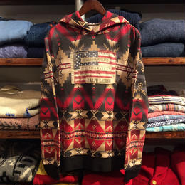 "【残り僅か】DENIM&SUPPLY ""FLAG PATCH"" native hoody(Red)"