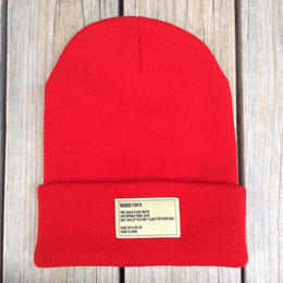 【残り僅か】RUGGED beanie(Red×OffWhite)