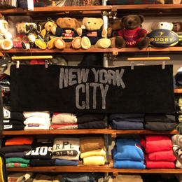 """【残り僅か】 SECOND LAB """"NYC"""" KITCHEN RUG (Black×Black)"""