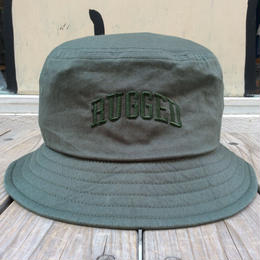 RUGGED on Champion buckethat(Olive)