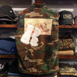 "RUGGED ""欲"" vintage camo shirt  ② (M)"
