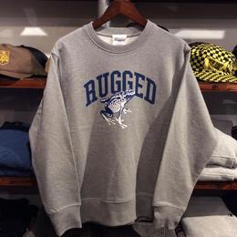 "RUGGED ""蛙"" super hevy weight sweat (Gray/12.7oz.)"
