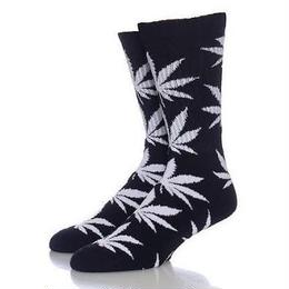 "【残り僅か】HUF ""PLANTLIFE"" CREW SOCK (Black)"