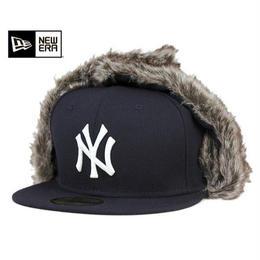 """【ラス1】NEW ERA 59FIFTY """"NY"""" CAP TRAPPER (Black)"""
