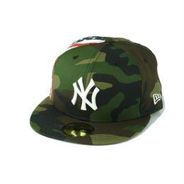 """【ラス1】 NEWERA FLAG SIDE 59FIFTY  """"NY"""" CAP (Camo)"""