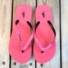 "【ラス1】POLO RALPH LAUREN ""Big pony ""Womens Beach sandal (Pink/Black)"