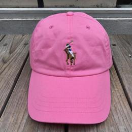 """POLO RALPH LAUREN """"8bit pony '' logo adjuster cap (Pink)"""
