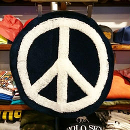 "【ラス1】 SECOND LAB ""PEACE"" RUG (Navy×White)"