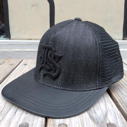 "【ラス1】DENIM & SUPPLY ""Black Denim"" mesh cap"