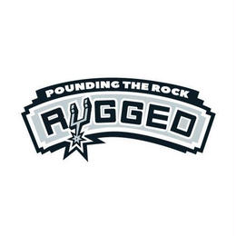 "RUGGED ""POUNDING THE ROCK"" sticker"