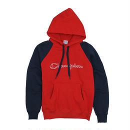 Champion logo raglan hoodie (Red)