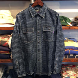 RUGGED indigo shirt(Star)