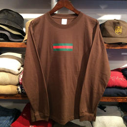 "【ラス1】GUALA ""GEL BOX"" L/S tee (Dark Brown)"