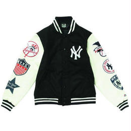 Majestic WAPPEN STADIUM JACKET (Black×White)