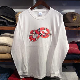 """GUALA """"SNAKE"""" L/S tee (White)"""