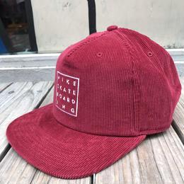 """【残り僅か】NIKE SB """"NIKE SKATE BOARD ING"""" couduroy adjuster cap (Red)"""