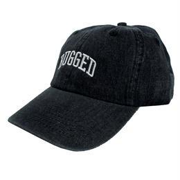 RUGGED ''ARCH LOGO'' adjuster cap (Black Denim)