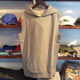 【残り僅か】DENIM &SUPPLY sleeve less hoody(Gray)