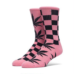 """【ラス1】HUF """"RIDGEMONT PLANTLIFE"""" CREW SOCK (Pink)"""