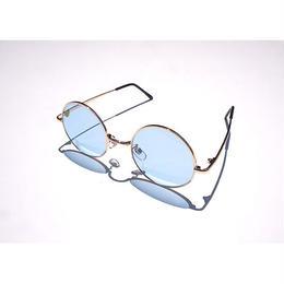【ラス1】SECOND LAB. ROUND SUNGLASSES(Blue)