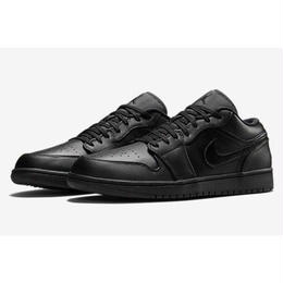 "【残り僅か】NIKE ""AIR JORDAN 1 LOW"" (BLACK/BLACK-BLACK)"