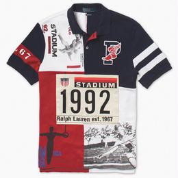"POLO RALPH LAUREN ""THE STADIUM 1992 "" MESH POLO SHIRT"