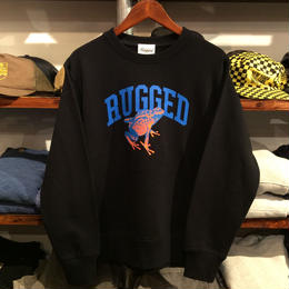 """【ラス1】RUGGED """"蛙"""" super hevy weight sweat (Black/12.7oz.)"""