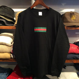 "【残り僅か】GUALA ""GEL BOX"" L/S tee (Black)"