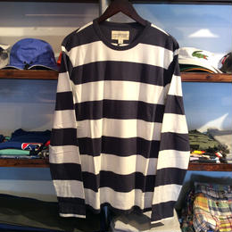 【ラス1】DENIM & SUPPLY striped cotton L/S tee(White/Navy)