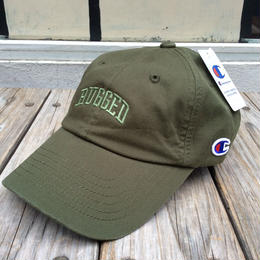 "RUGGED on Champion ""ARCH LOGO"" Leather belt adjuster cap(Olive)"