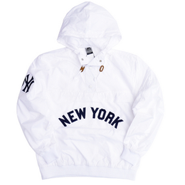 "【ラス1】Majestic ""NEW YORK"" anorak nylon hoody(White)"