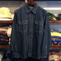 RUGGED indigo shirt(Stripe)