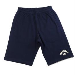 "RUGGED ""TOKYO MAD RGD "" sweat shorts(Navy×Cream)"