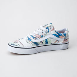 【残り僅か】VANS TROPICAL LEAVES OLD SKOOL (True White)