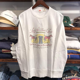 【ラス1】Levi's flasher art work sweat (White)