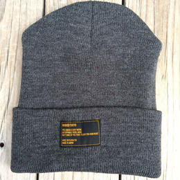 【残り僅か】RUGGED beanie(Gray×Black)