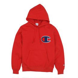 """【残り僅か】Champion """"Big C logo"""" HOODED SWEAT (Red)"""