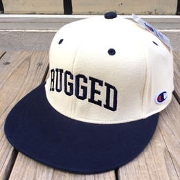 【ラス1】RUGGED on Champion snapback(Cream×Navy)