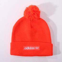 【ラス1】adidas woven logo ponpon beanie (Orange)