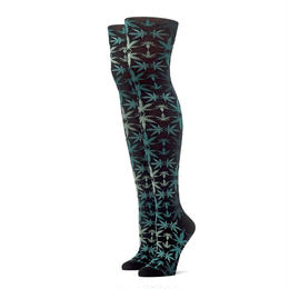 "【ラス1】HUF ""PLANTLIFE KALEIDE"" KNEE HI SOCK (Black)"