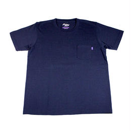 RUGGED high grade cotton pocket tee (Navy)